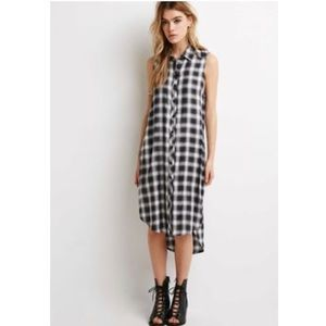 Forever 21 long gray flannel with high slit